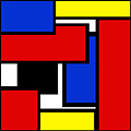 Partridge Family Abstract 1 C Square by Andee Design