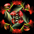 Passionate Love Bouquet Abstract by Georgiana Romanovna