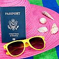 Passport On Pink Hat by Joe Belanger