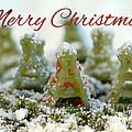 Pasta Christmas Trees With Text by Iris Richardson