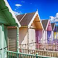Pastel Beach Huts 3 by Chris Thaxter