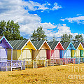 Pastel Beach Huts by Chris Thaxter