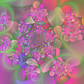 Pastel  Fractal Flower Garden by Judi Suni Hall