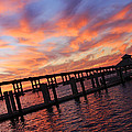 Pastel Painted Sky At The Pier by Tamara Gibbs