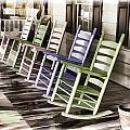 Pastel Rocking Chairs by Ray Summers Photography
