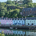 Pastel Rowhome In The Bay Highlands Scotland by Iris Richardson