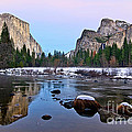 Pastel - Sunset View Of Yosemite National Park. by Jamie Pham