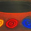 Pastel Three Color Galaxies And A Black Hole by Kazuya Akimoto