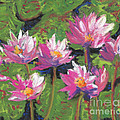 Pastel Water Lilies I  by Vicki Baun Barry