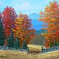 Pasture Gate In Autumn by Frank Wilson