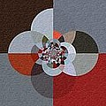 Patchwork Craze - Abstract - Triptych by Barbara Griffin
