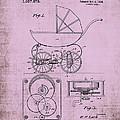Patent Art Baby Carriage 1920 Lark Invite IIi by Lesa Fine