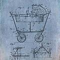 Patent Art Baby Carriage 1922 Mahr Denim by Lesa Fine