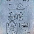 Patent Art Baby Carriage Lark II Invite by Lesa Fine