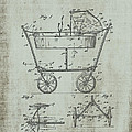 Patent Art Mahr Baby Carriage 1922 Green by Lesa Fine