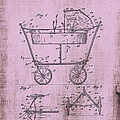 Patent Art Mahr Baby Carriage 1922 Pink by Lesa Fine