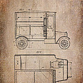 Patent Art Refrigerator Truck I Antique by Lesa Fine