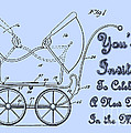 Patent Art Robinson Baby Carriage Invite-blue by Lesa Fine