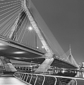 Path To The Leonard P. Zakim Bridge Bw by Susan Candelario