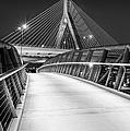 Path To The Zakim Bridge Bw by Susan Candelario