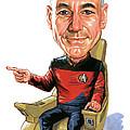 Patrick Stewart As Jean-luc Picard by Art