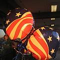 Patriotic Balloons Veteran's Day Casa Grande Arizona 2004 by David Lee Guss