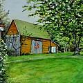 Patriotic Barn by Jennifer Calhoun