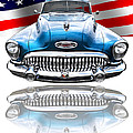 Patriotic Buick Riviera 1953 by Gill Billington