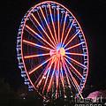 Patriotic Ferris Wheel by Marian Bell