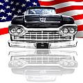 Patriotic Ford F100 1960 by Gill Billington