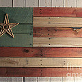 Patriotic Wood Flag by John Turek