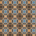 Blue And Brown Pattern by Judi Suni Hall