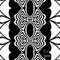 Pattern Black White Abstract Art No.293. by Drinka Mercep