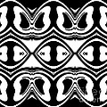 Pattern Black White Geometric Art No.188. by Drinka Mercep