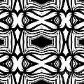 Pattern Black White Ornament Abstract Art Print No.40  by Drinka Mercep