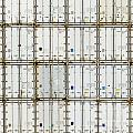 Pattern Of Shipping Container Stack At Depot by Stephan Pietzko