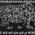 Patterned Rhino by Caroline Street