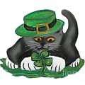 Patty The Grey Kitten Loves Four Leaf Clovers by Ellen Miffitt