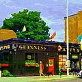Patty's Pub Guinness On The Glebe Restaurant Bar Bank And Ossington Paintings Of Ottawa Art Cspandau by Carole Spandau