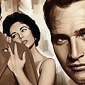 Paul Newman Artwork 2 by Sheraz A