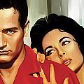 Paul Newman Artwork 3 by Sheraz A