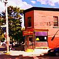 Paul Patate Pointe St Charles South West Montreal Autumn Street Scene Carole Spandau by Carole Spandau