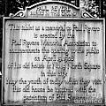 Paul Revere Burial Plaque Boston Massachusetts by Staci Bigelow