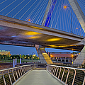 Paul Revere Park And The Zakim Bridge by Susan Candelario