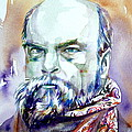 Paul Verlaine - Watercolor Portrait.1 by Fabrizio Cassetta