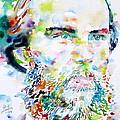 Paul Verlaine - Watercolor Portrait.2 by Fabrizio Cassetta