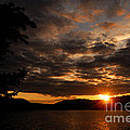 Paull Lake Sunset by Larry Ricker