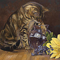 Paw In The Vase by Lucie Bilodeau