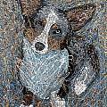 Pawlick No. 1 - Pembroke Welsh Corgi by Gretchen Kish Serrano