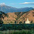 Payson Temple Mountains by La Rae  Roberts